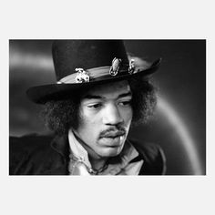 Jimi Hendrix By Dezo Hoffmann, $75, now featured on Fab. [Rock Paper Photo]