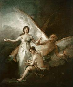 Titre de l'image : Francisco José de Goya - La vérité, l'histoire et le temps.