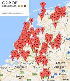 Grip op Koolhydraten netwerk per 17 mei 2018 17 Mei, Map, Location Map, Maps