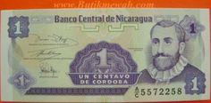 1991 Nicaragua 1 Un Centavo de Cordoba Banknote