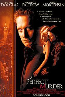 """A Perfect Murder Michael Douglas, Gwyneth Paltrow.When her husband discovers her indiscretion, he sets out to commit the perfect murder and inherit her considerable trust fund in the bargain. (A remake of the Hitchcock classic """"Dial M for Murder"""". Top Movies, Great Movies, Movies To Watch, 1990s Movies, Indie Movies, Comedy Movies, See Movie, Movie Tv, Movies Showing"""