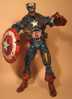 Custom Captain America Zombie