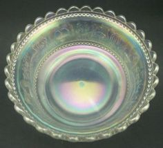 Northwood-Carnival-Glass-Peacock-at-the-Fountain-White-Master-Berry-Bowl