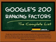 ★☯★ #SEO factors: #Google 's 200 Search Ranking Factors #Infographic ★☯★ @Eric Siu @Entrepreneur @SEJournal Google's algorithm is more complex and volatile than ever.  This infographic by Entrepreneur.com & Backlinko.com may give you some much needed perspective. The piece covers all of the known 200 ranking signals that Google uses to rank sites and pages. #WTF #OMG #bizarre #Strange #Odd #unusual #Funny #Fun #amazing #internet #web #social #media #socialmedia #network #Tech