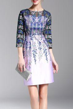 Sheer Embroidered Sheath Dress