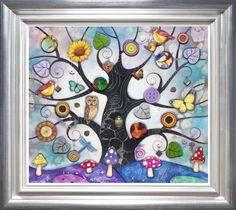 Blue Tree of Charms - Kerry Darlington (Unique Limited Edition Resin) - £795.00 - Kerry Darlington - Prints & Artwork