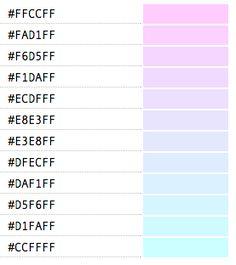 code html des couleurs pastel couleur pinterest. Black Bedroom Furniture Sets. Home Design Ideas