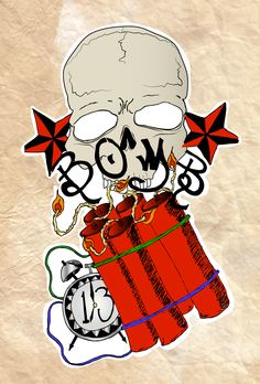 Time Bomb Tattoo Designs Skull Flash Art By 481eeafcb4a