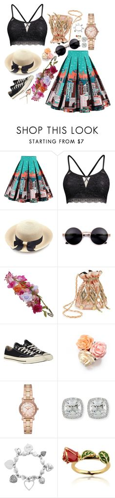 """""""Festiv(al)"""" by fabulousfashions1234 ❤ liked on Polyvore featuring Accessorize, Miss Selfridge, Converse, Michael Kors, Frederic Sage, ChloBo and Disney"""