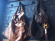 One-of-a-kind bags made from upcycled leather jackets.     UrbanXchange  http://urbanxchangetacoma.tumblr.com/