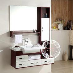 Brief Modern Pvc Bathroom Cabinet Wash Basin Cabinet Oak Bathroom Cabinet  Combination Bathroom Vanity Dg007 $399.49