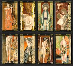 The hidden meaning of the symbols of the Tarot cards. The Tarot deck that helps us answering difficult questions and secret wishes. Can Tarot cards really tell the future. How do tarot cards it work ? Gustav Klimt, Klimt Art, Art Nouveau, Tarot Meanings, Wicca, Ecole Art, Tarot Decks, Occult, Art History