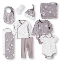 Baby Nay Baby Layette Sets - Casual Gray NB, Girl's, Size: Newborn Gender: female. Unisex Baby Clothes, Baby Kids Clothes, Gender Neutral Baby Clothes, Baby Layette, Going Home Outfit, Baby Shower Gifts For Boys, Baby Dress, Dress Set, Gray