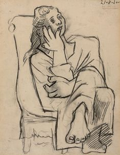 """thunderstruck9: """" Pablo Picasso (Spanish, 1881-1973), Femme assise {Seated…"""