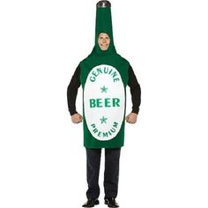 BEER BOTTLE COSTUME HALLOWEEN ADULT DRESS UP IMPORTED ALE MENS ONE SIZE ONE PC