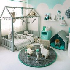 Nursery, ideas, blue, mint, seafoam