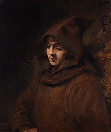 Rembrandt - Rembrandt's son, Titus, as a monk, 1660