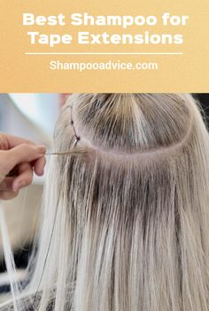 While tape hair extensions are easy to maintain, it's important to use the right type of shampoo so they continue to feel soft, look shiny and last even longer. With this in mind, here's our pick of 5 IDEAL shampoos for tape-in hair extensions. Luscious Hair, Best Shampoos, Tape In Hair Extensions, Type, Hair Styles, Easy, Hair Plait Styles, Hair Makeup, Hairdos
