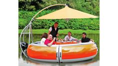 Floating Barbecue Grill Promises the Freshest Shrimp on the Barbie $50k, but how cool is this?!