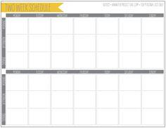 2-week planner