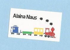Choo Choo Train Calling Cards  Treat Bag Tags  Party Favor