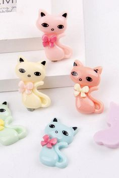 French Style Cute Cats Sweet Kawaii Cameo Red Pink Yellow Blue Green Purple Fancy Bow Flat Back Resin Cutest Cats Sweet Slime Cat Slime Making Slime Without Glue, Fluffy Slime Without Glue, How To Make Slime, Fluffy Slime Recipe, Making Fluffy Slime, Easy Slime Recipe, Green And Purple, Pink Yellow, Red And Pink