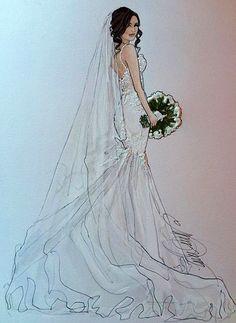 52 Ideas Fashion Design Sketches Wedding Beautiful For 2019 - Wedding Dress Illustrations, Wedding Dress Sketches, Wedding Pics, Wedding Gowns, Fashion Art, Fashion Models, Fashion Drawing Dresses, Fashion Design Sketches, Apparel Design