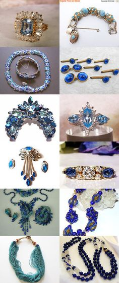 Blue Gems Jewels And Glam VJT by Gena Lightle on Etsy--Pinned+with+TreasuryPin.com