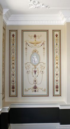 Wall Painting Decor, Art Decor, Decoration, Home Decor, Hand Painted Wallpaper, Hand Painted Walls, Ceiling Design, Wall Design, Motif Arabesque