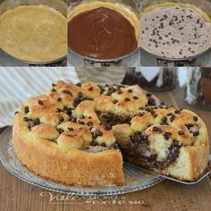 Torta Ricotta e Nutella ma un po diversa. Sweet Recipes, Real Food Recipes, Cake Recipes, Dessert Recipes, Yummy Food, Ricotta, Cake Cookies, Cupcake Cakes, Cooking Cake