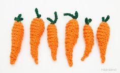 Leikkiruokaa: Porkkanat virkaten http://www.haaraamo.fi