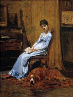 The Artist's Wife and His Setter Dog - Thomas Eakins