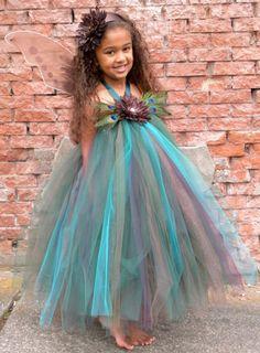 Blumenmädchen Tutu Kleid - kostbare Peacock - 5-6-Jugend-Mädchen