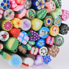 50Pcs 3D Nail Art Canes Sticks Rods Stickers For Nail Acrylic Decoration System