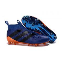 on sale f2440 4fe9e adidas Ace 16 Pure control FG AG Soccer Cleats Orange Blue Black Soulier De  Soccer,