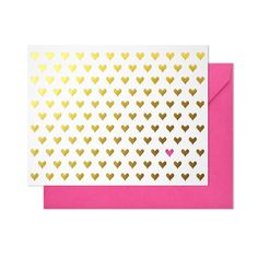 Gold Hearts Note Card Set