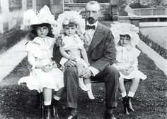 "Grand Duke Mikhail Mikhailovich Romanov of Russia with his children,Anastasia,Michael and Nadejda. ""AL"""