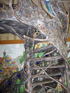 Amazing spiral staircase -- Terra Studios, Elkins, AR