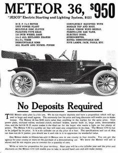 1914 Meteor Automobile Advertisement