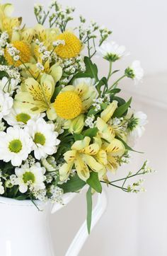 Our Charlie bouquet is our new favourite brights bouquet. The on-trend yellow Craspedia paired up with daisy like Chrysanthemum's is perfect for spring. Order The Charlie for £20 with next day letterbox delivery.