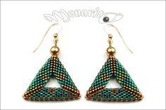 Hey, I found this really awesome Etsy listing at https://www.etsy.com/listing/223860982/emerald-triangulation-earrings