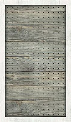 New View Natural with White Wash Peg Board 24x14 inches (...