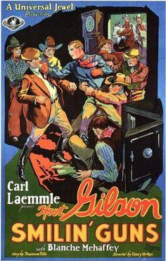 Smilin' Guns. Hoot Gibson, Blanche Mehaffy, Virginia Pearson Leo White, Walter Brennan. Directed by Henry MacRae. Universal. 1929