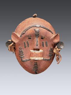 Mask, Makonde Wood, pigment, 19cm Collection of the Ethnologisches Museum  QCC Art Gallery