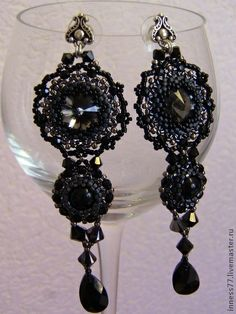 """Handmade earrings. Fair Masters - handmade earrings """"The Secret."""" Handmade."""
