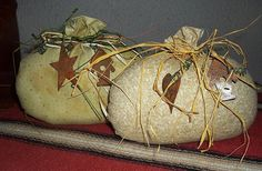 PRIMITIVE STUFFED PUMPKINS / Fabric / Set by WhiteWolfeNativeArts, $7.50