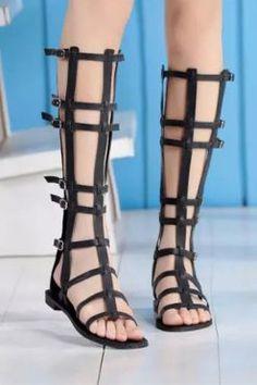 sandale gladiator lungi cu catarame