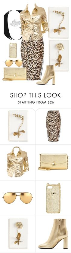 """""""Spring Gold"""" by loves-elephants ❤ liked on Polyvore featuring Tommy Mitchell, River Island, Moschino, Dolce&Gabbana, Linda Farrow, Kate Spade and Yves Saint Laurent"""