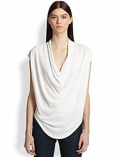 Helmut Lang Feather Jersey Top