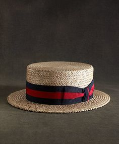 The Great Gatsby Collection Straw Boater Hat from Brooks Brothers